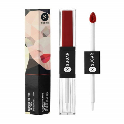 Sugar Smudge Me Not Lip Duo - Drop Dead Red (Red) - Distacart