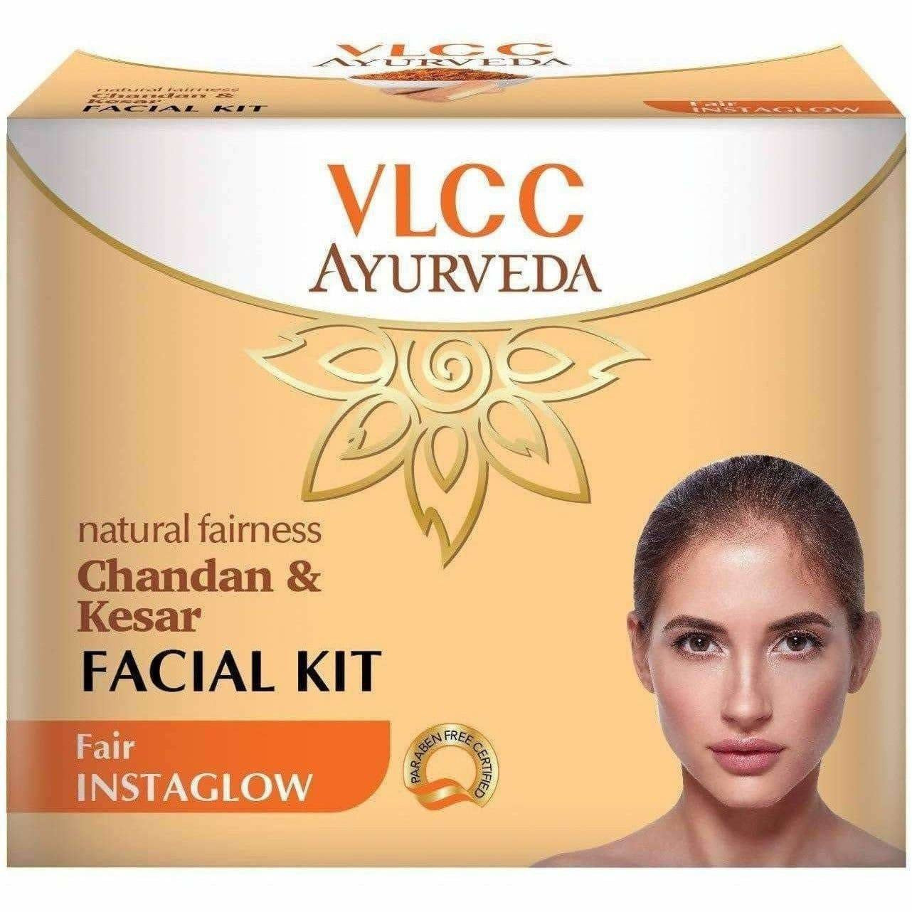 VLCC Ayurveda Natural Fairness Chandan and Kesar Facial Kit