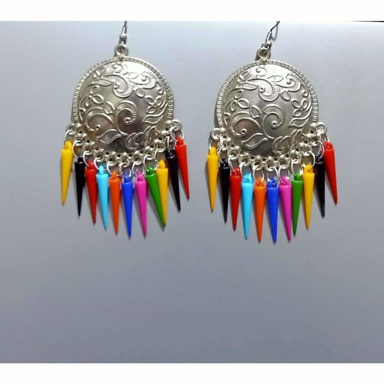 Latest Fashion Silver Oxidized Earrings With Long Pearls