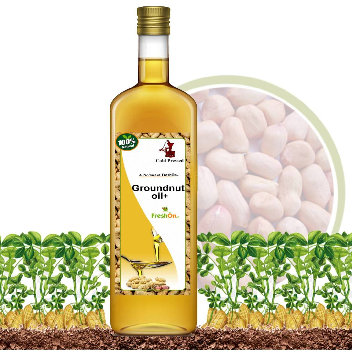 Freshonin Groundnut Oil + Cold Pressed