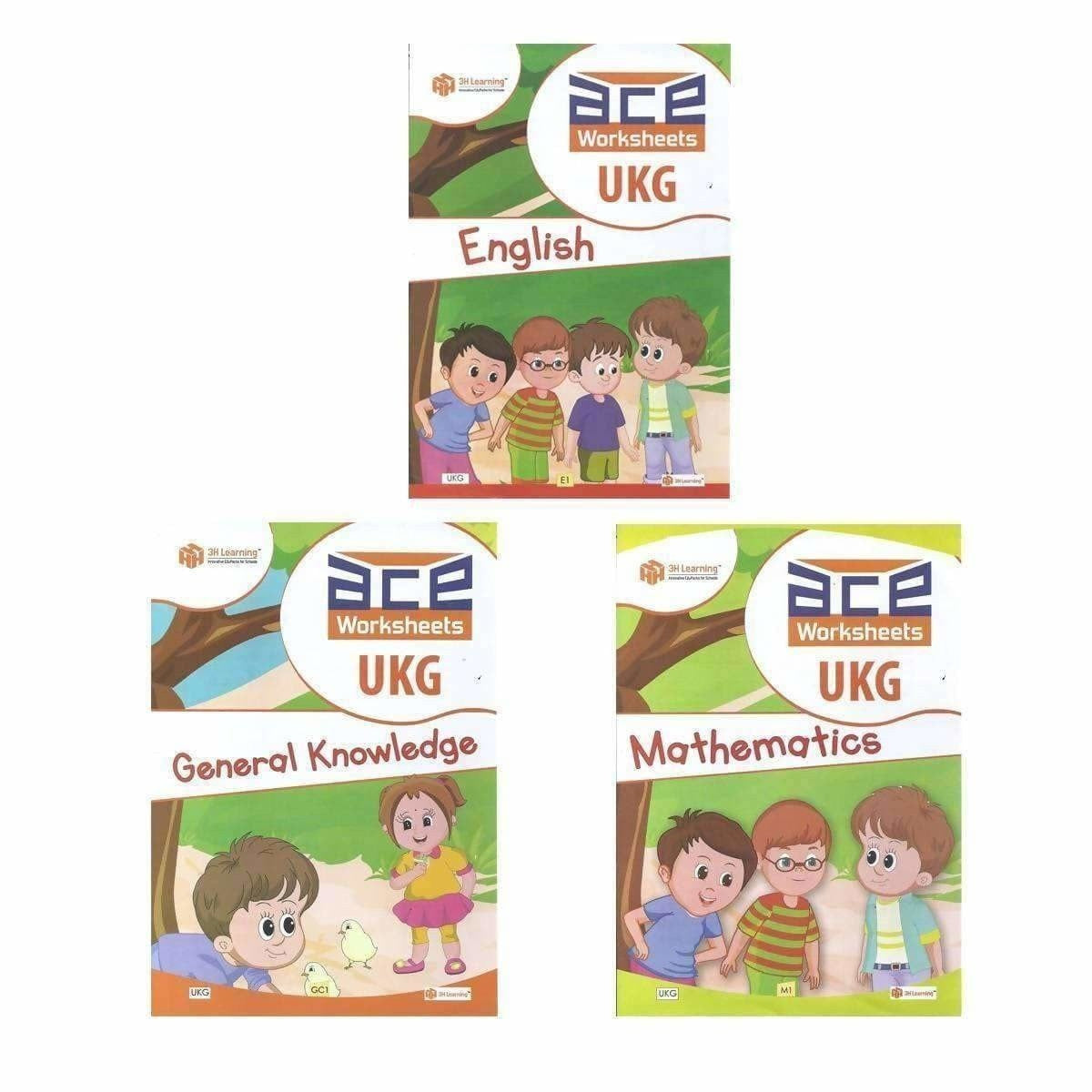UKG Kids ACE All-in-One Worksheets 260 pages (KG 2)