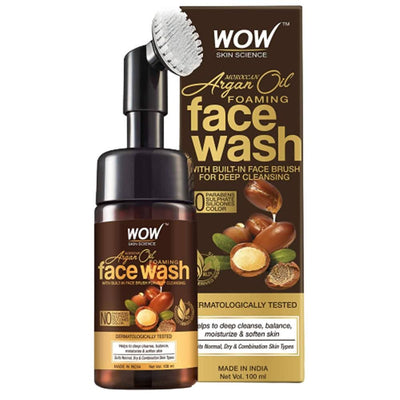 Wow Skin Science Moroccan Argan Oil Foaming Face Wash