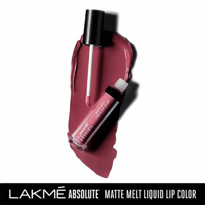 Lakme Absolute Matte Melt Liquid Lip Color - Rose Love