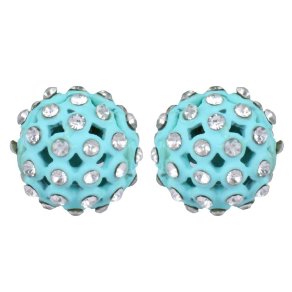 Trendoo Jewelry Gold Plated Stylish Blue Studs