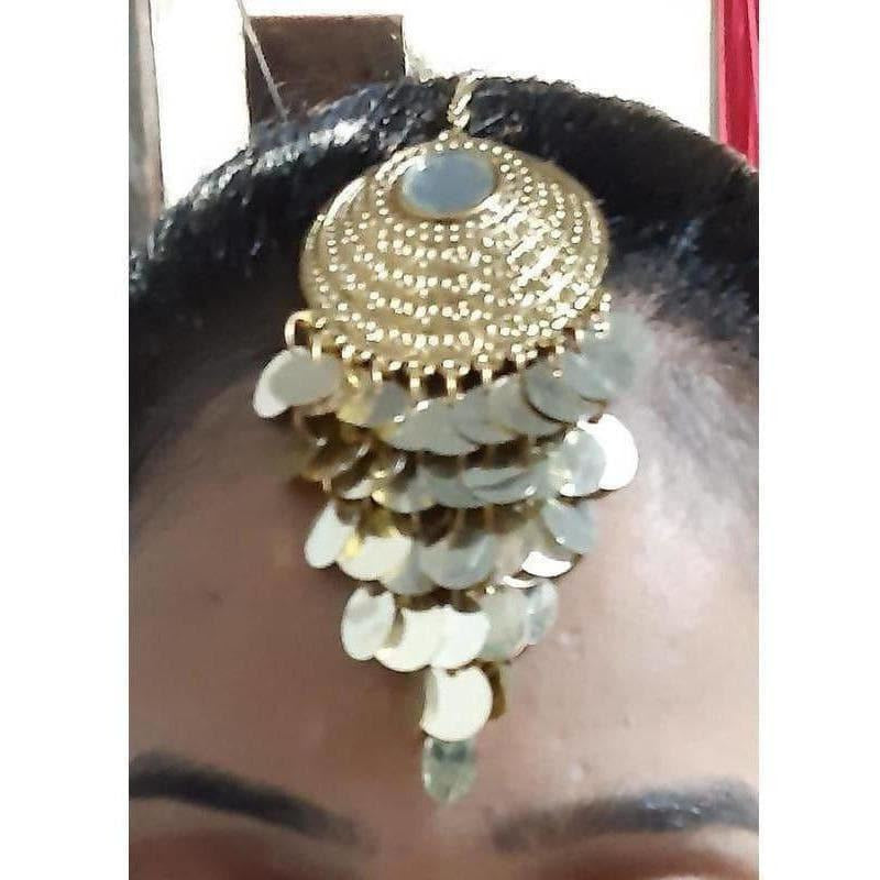 Latest Heavy Bridal Gold Maang Tikka Design