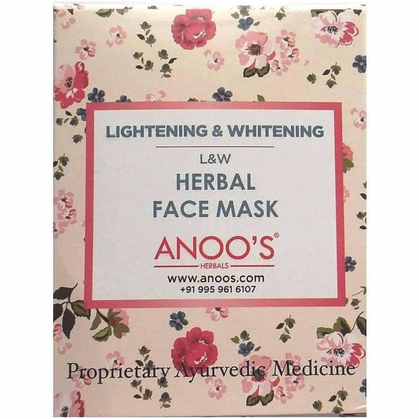 Anoos Herbal Lightning and Whitening Face Mask