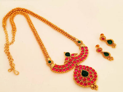Gold Plated Kemp Long Necklace Set