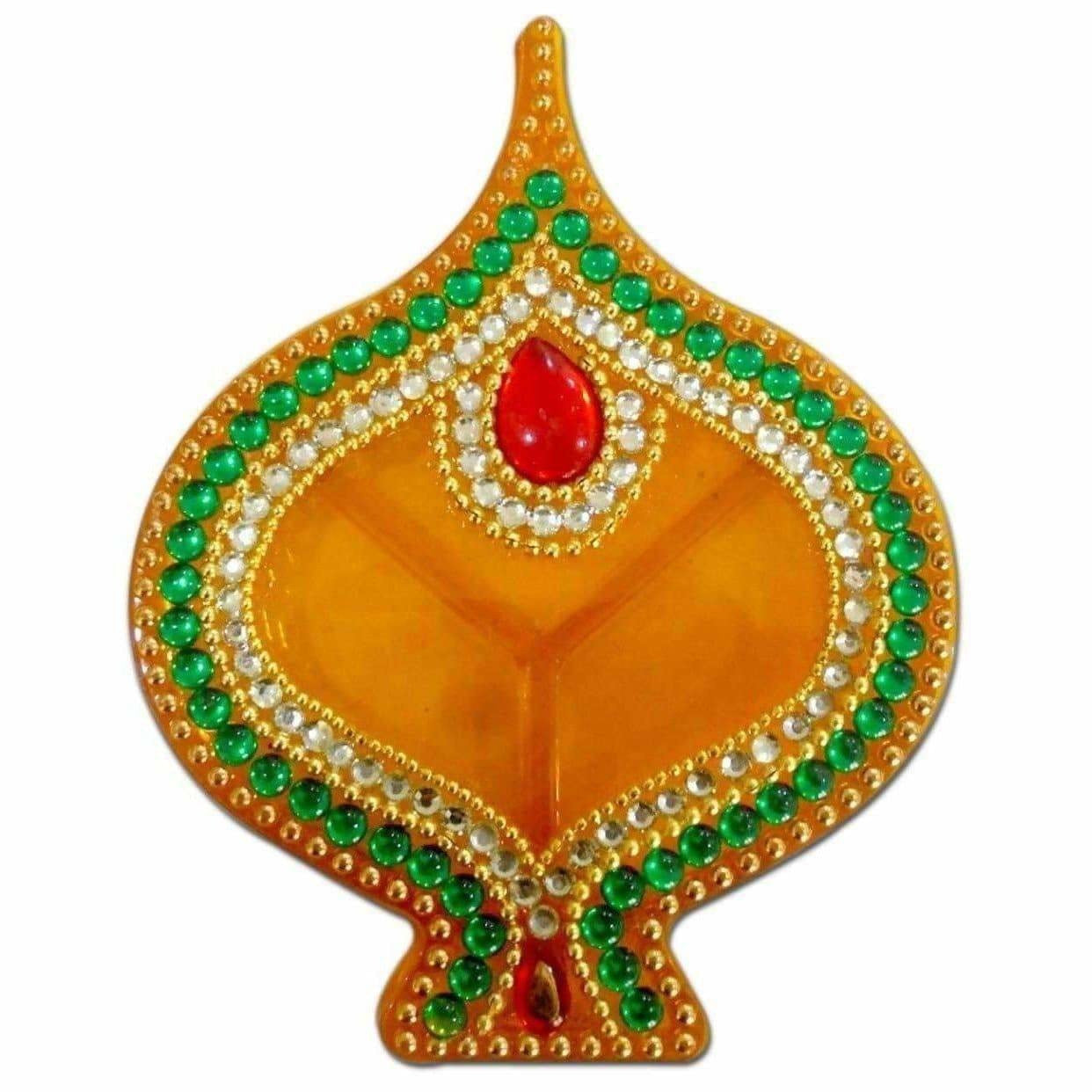 Fire Lamp Design Kumkum Box - 1 Piece
