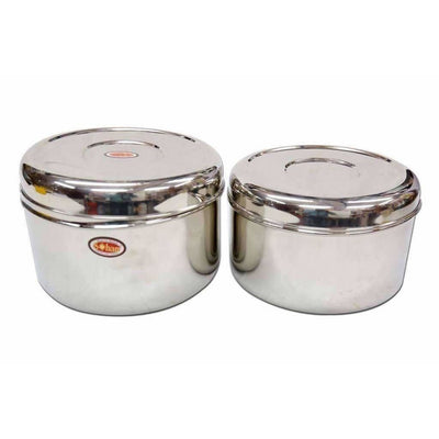 Soham Stainless Steel 2-Box Lunch Box Set -Storage Container-Kids Lunch Box Set