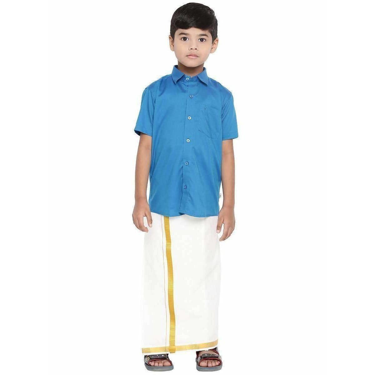 Ramraj Giza Cotton Set - Light Blue
