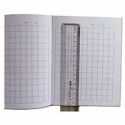 Square Box line Books with Pencils Pack of 6 (King - 96 Pages)