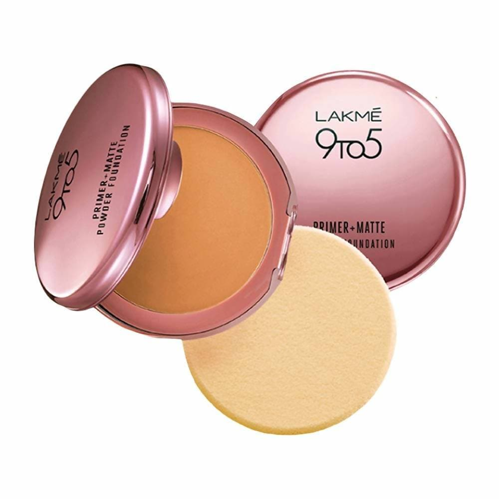 Lakme 9 To 5 Primer With Matte Powder Foundation Compact - Silky Golden - Distacart