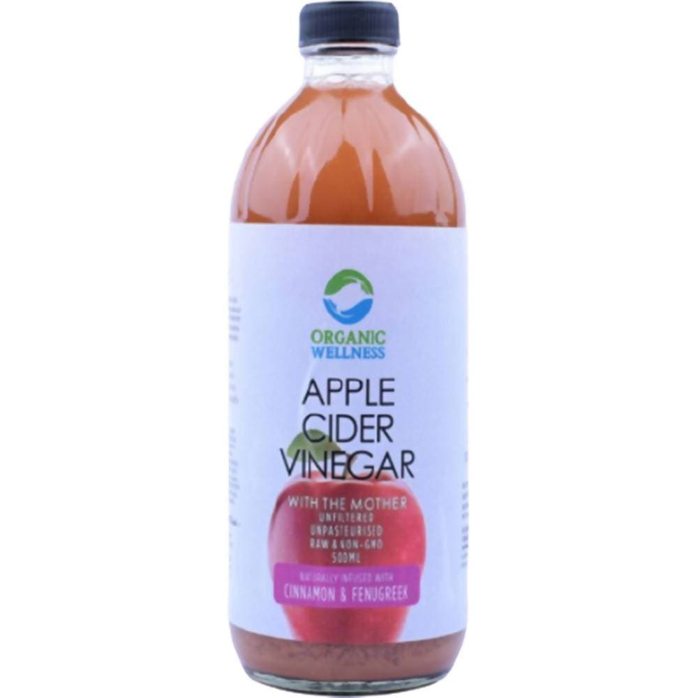 Organic Wellness Apple Cider Vinegar with Mother, Cinnamon & Fenugreek