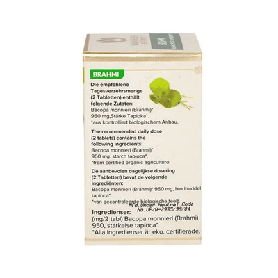Maharishi Ayurveda Organic Brahmi Tablet Ingredients