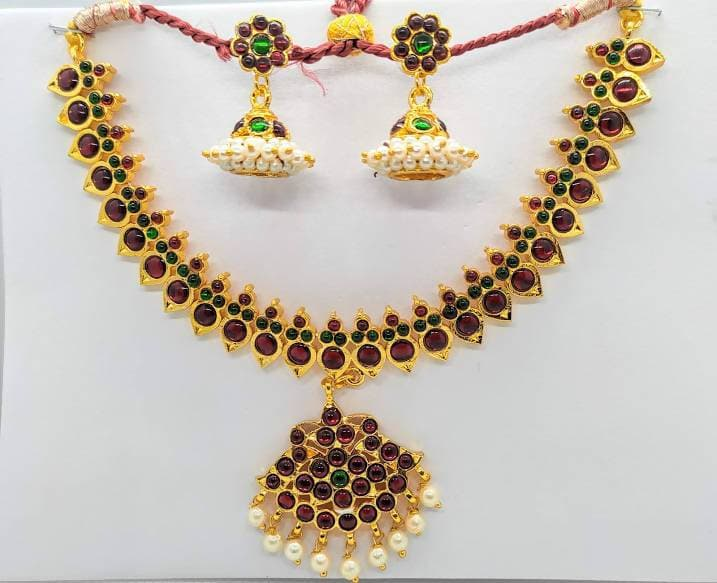Multicolor Traditional Kemp Necklace Set