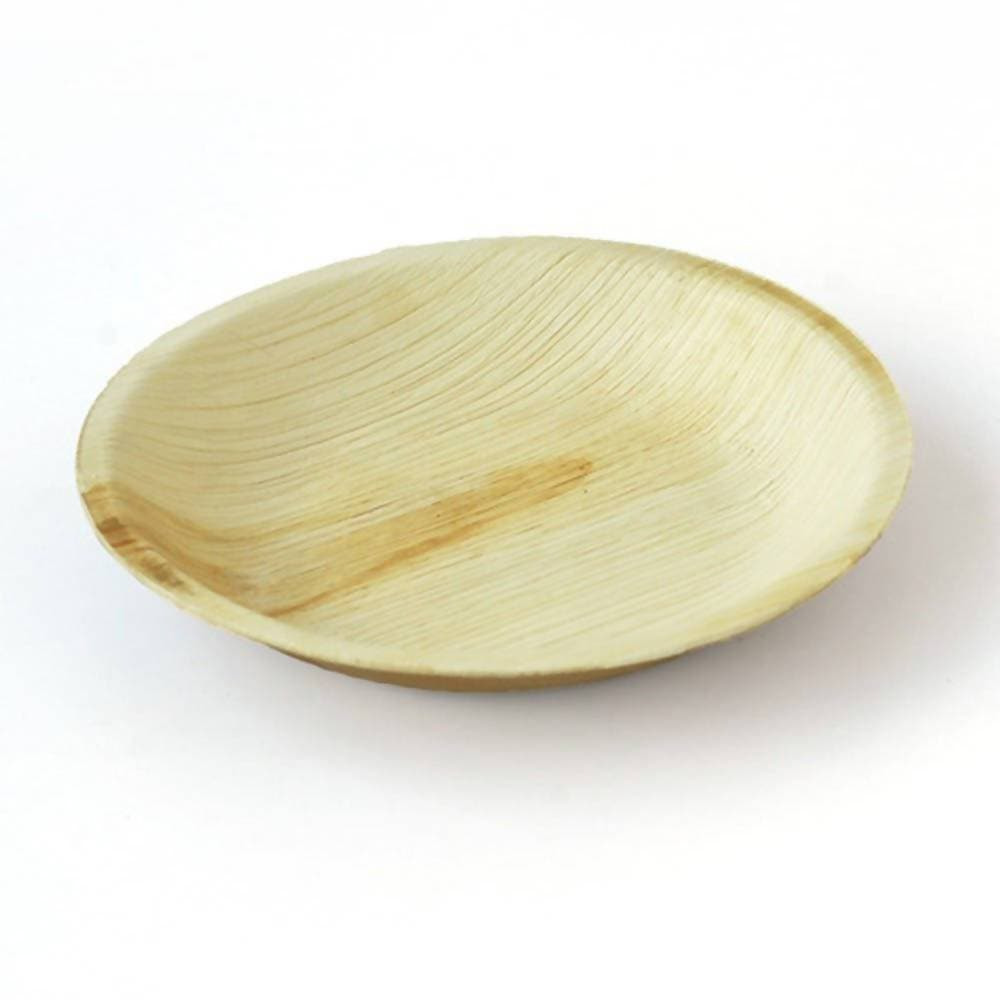 "Eco Friendly Areca Leaf 6"" Round Shallow Plate"