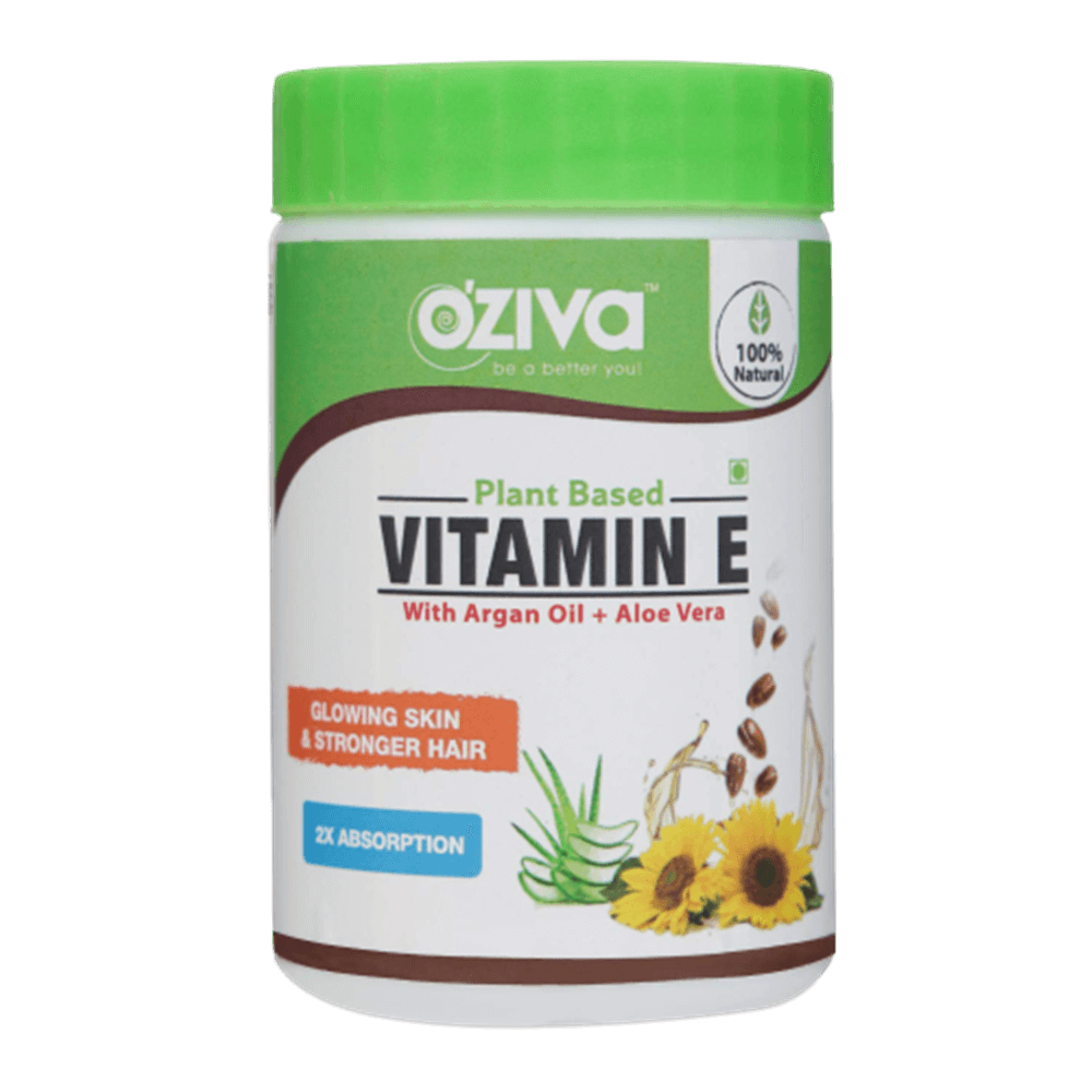 OZiva Plant Based Natural Vitamin E (With Argan oil + Aloe vera)