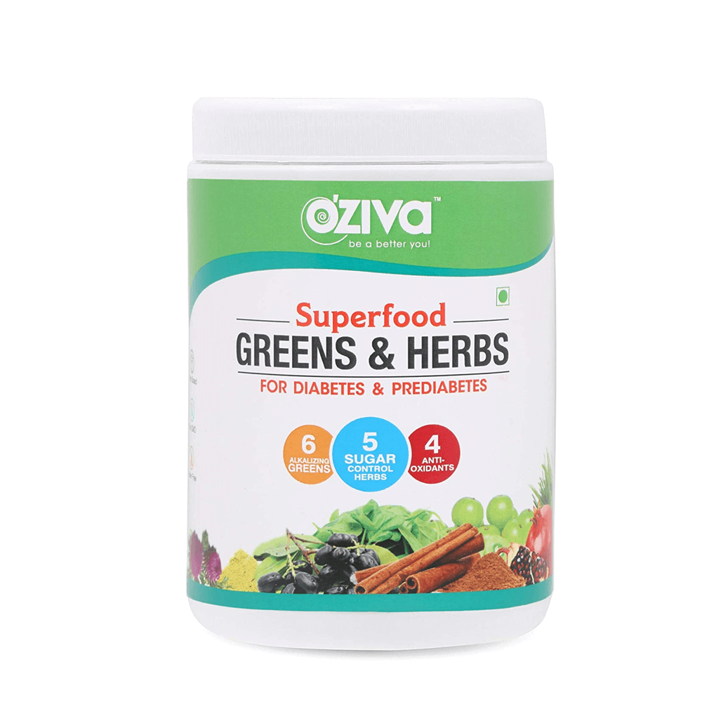OZiva Superfood Greens & Herbs for Diabetes & Prediabetes