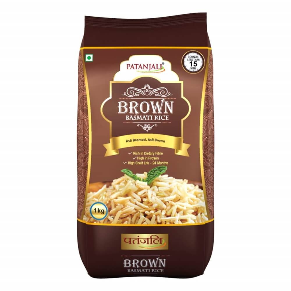Patanjali Brown Basmati Rice (1 Kg) - Distacart