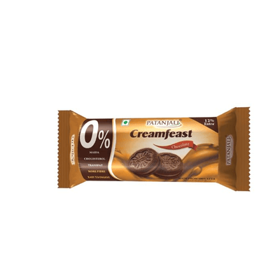 Patanjali Cream Feast Chocolate Biscuit (Pack of 10)