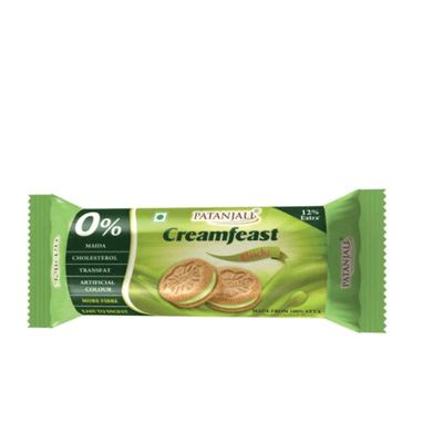 Patanjali Creamfeast Elaichi Biscuit (Pack of 10)