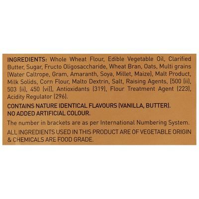 Patanjali Digestive Cookies Ingredients