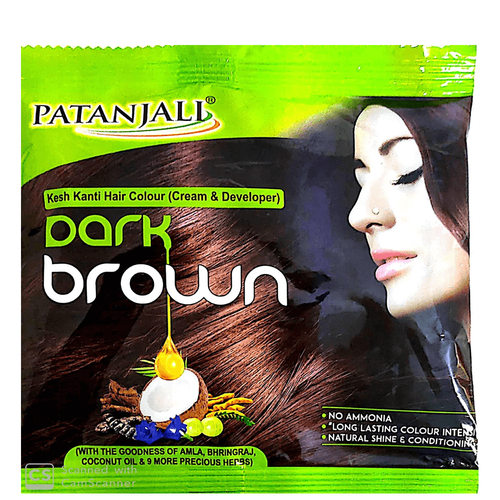 Patanjali Kesh Kanti Hair Colour (Cream & Developer) - 40 gram