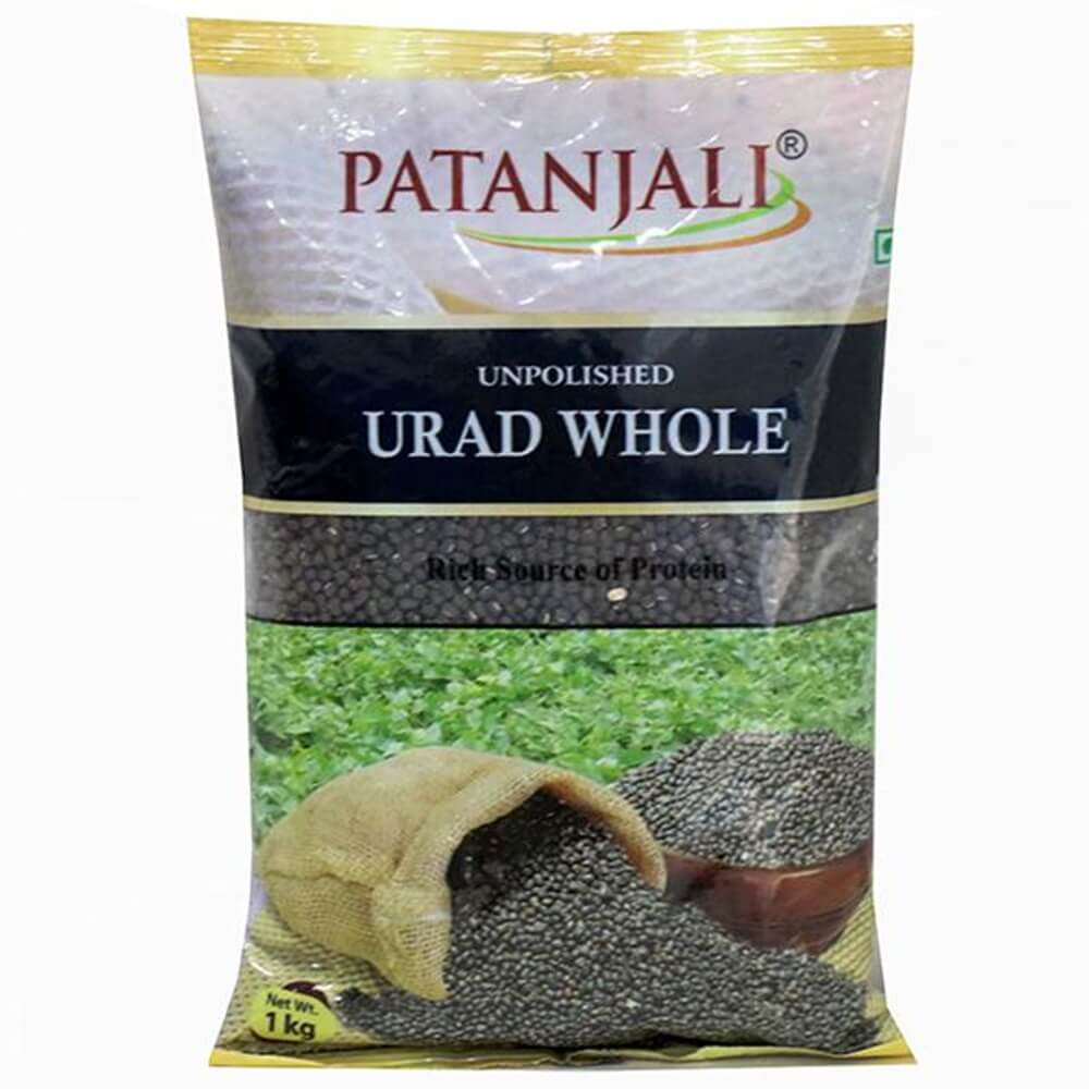 Patanjali Unpolished Urad Whole (1 kg) - Distacart