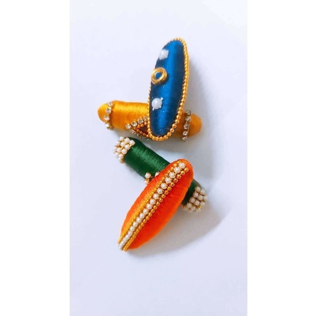 Multi - Colored Saree Pins - Set of 4
