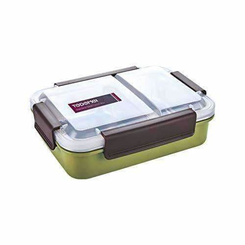 Stainless Steel Lunch Box Removable Stainless Steel in 2 Compartments