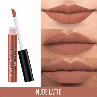 Lakme Forever Matte Liquid Lip Colour - Nude Latte
