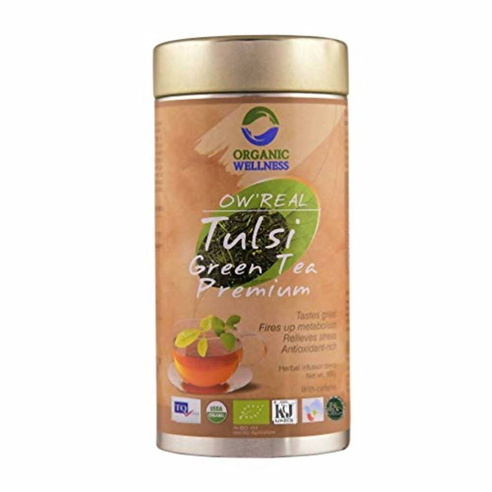 Organic Wellness Ow'Real Tulsi Green Tea Premium Tin Pack