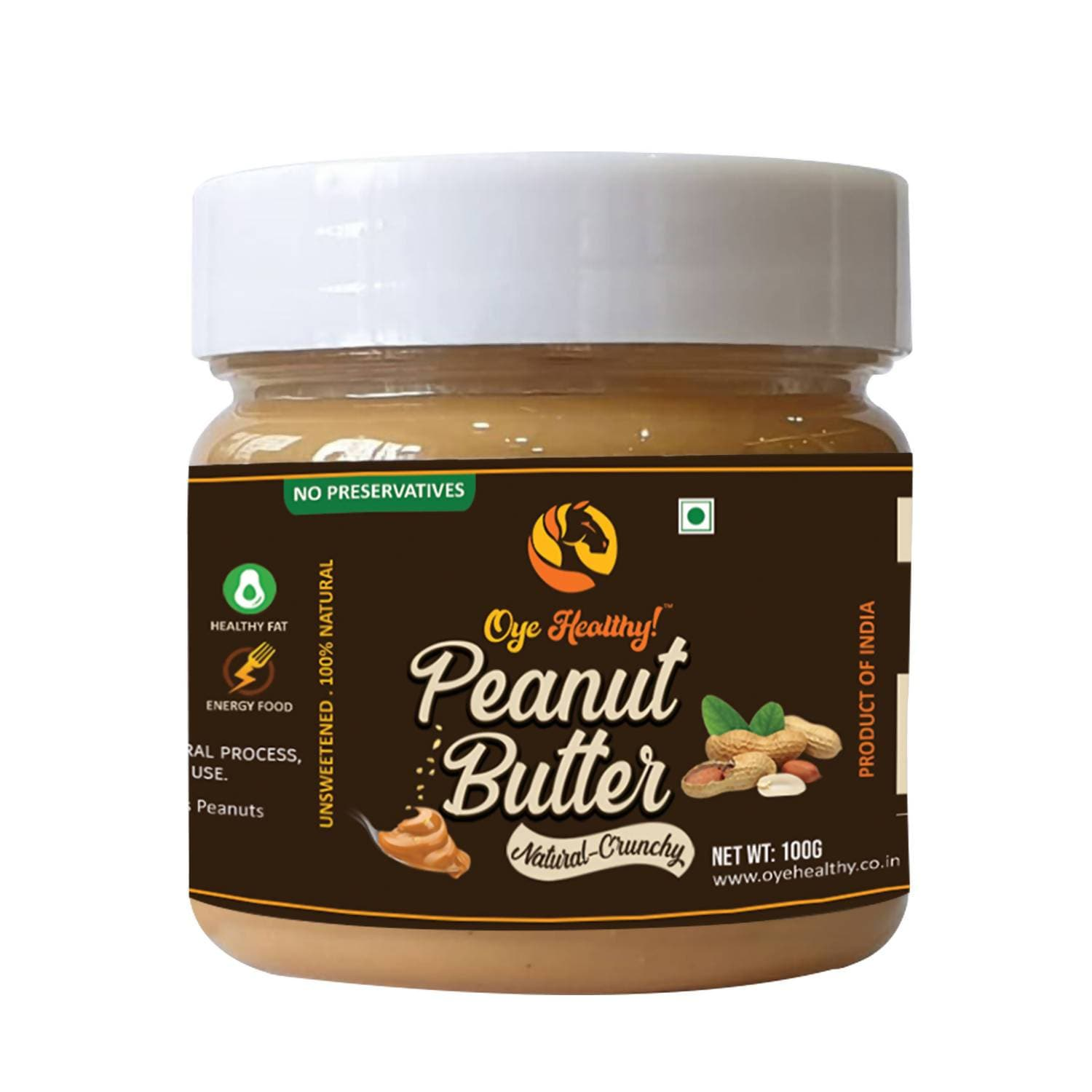 Oye Healthy Peanut Butter Natural Crunchy