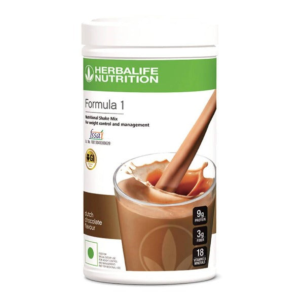 Herbalife Nutrition Formula 1 Nutritional Shake Mix - Dutch Chocolate Flavour - Distacart