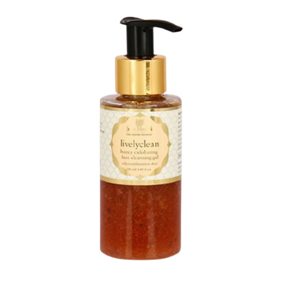 Just Herbs Livelyclean Honey Exfoliating Face Cleansing Gel - Distacart