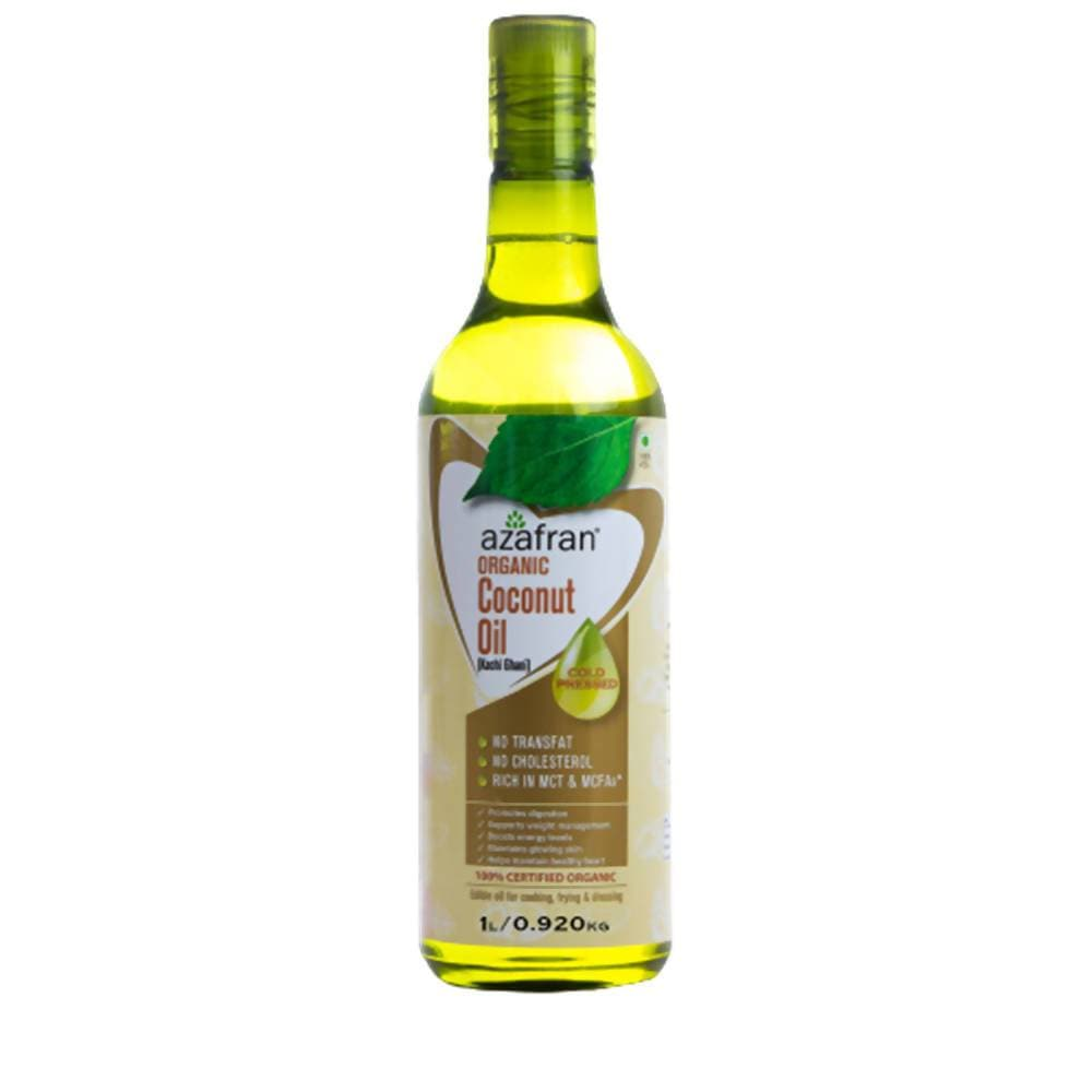 Azafran Organic Coconut Oil (Cold Pressed) - Distacart