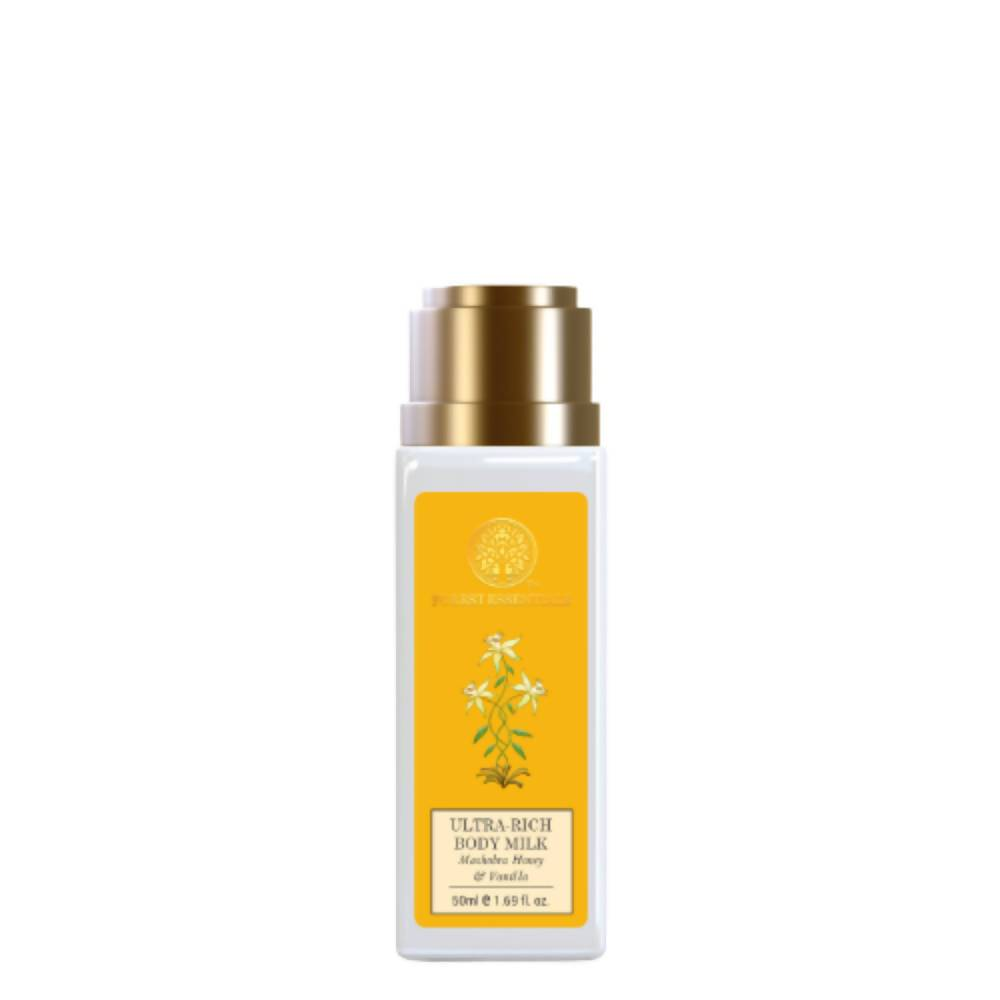 Forest Essentials Ultra-Rich Body Milk Mashobra Honey & Vanilla - Distacart