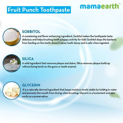 Mamaearth Fruit Punch Toothpaste For Babies