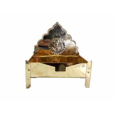 Brass Pedestal Simhasanam Idol Throne - Dista Cart