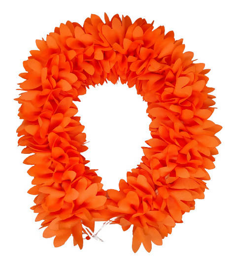 Orange Fabric Gajra