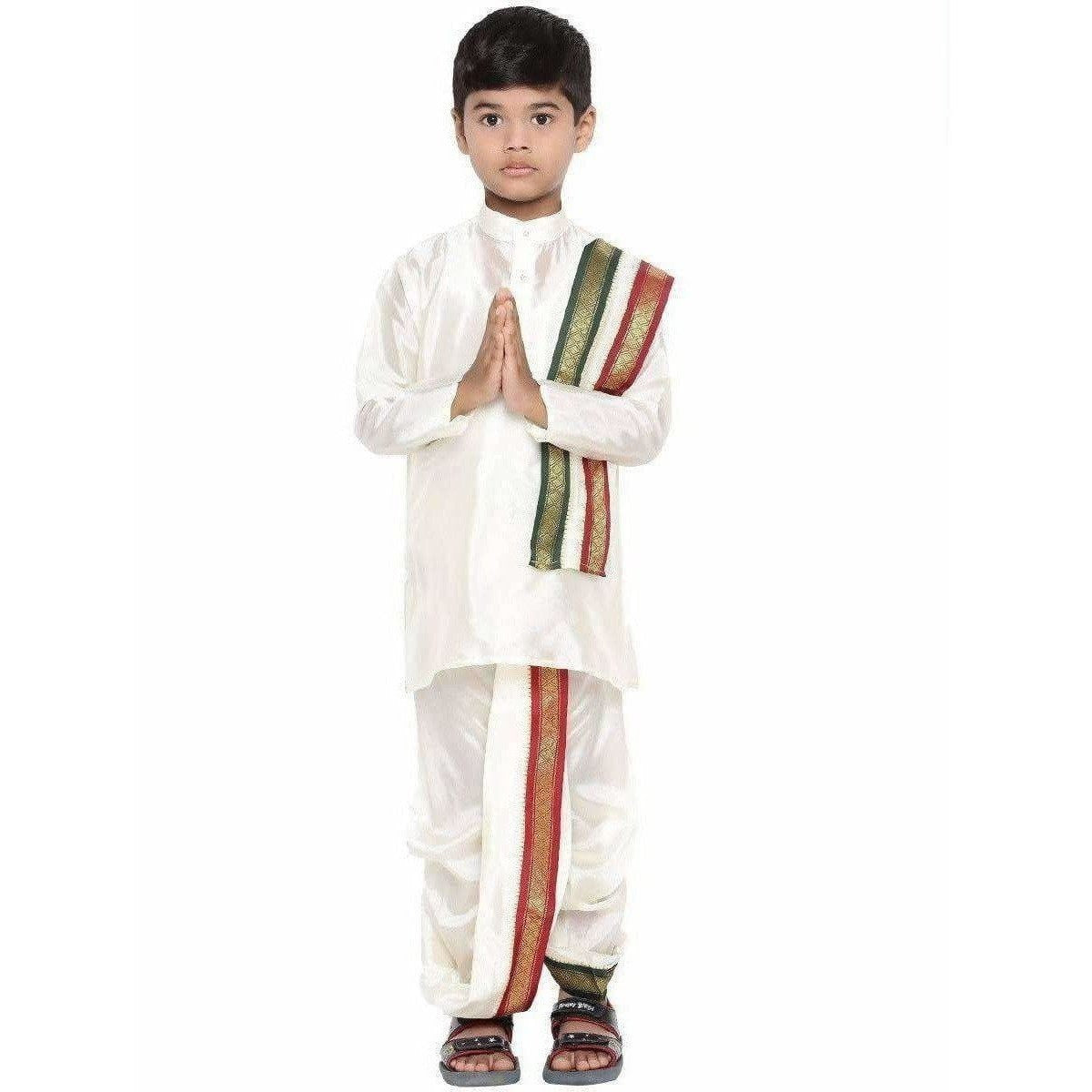 Ramraj - Little Stars - Silk Kurta Set