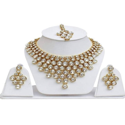 Megha Creations Women's Stones Jewellery Set