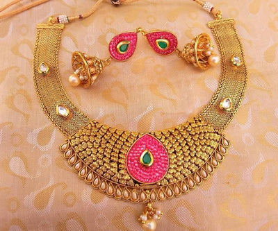 Multicolor Antique necklace Set