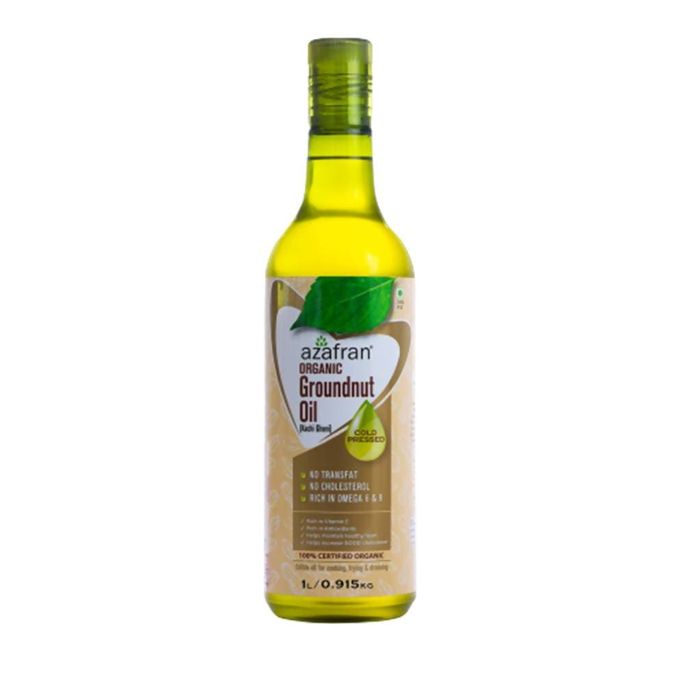 Azafran Organic Groundnut Oil (Cold Pressed) - Distacart