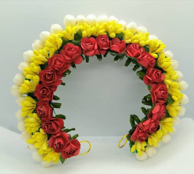 Red & Yellow Flower Hair Gajra