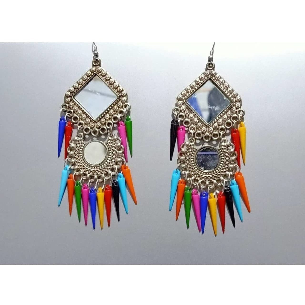 Latest Trendy Multicolor Pearls Hanging Chandbali Earrings