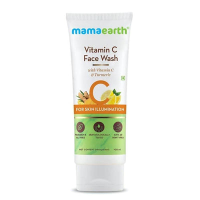 Mamaearth Vitamin C Face Wash & Sleeping Mask For Skin Illumination Combo - Distacart