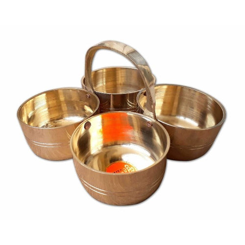 Haldi / Turmeric / Sandal Bowls Set of Four - Dista Cart