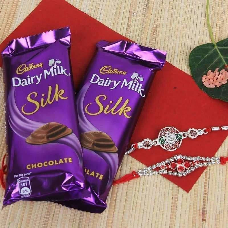 Rakshbandhan Special Rakhi with Dairy Milk silk chocolates