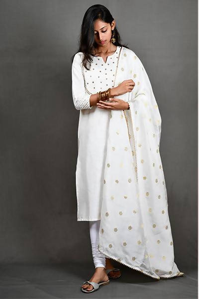 Byogi Yoke-Zari Embroidered kurti - Distacart